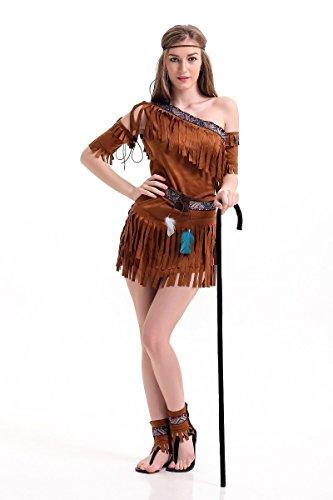 Ägyptische Kostüm Weibliche - FGDJTYYJ Halloween-Kostüm/ägyptischer ursprünglicher indigenen Frauen Bekleidung,