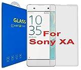 Sony Xperia XA ( 5 pouces ) 3D Incurvé Verre Trempé - Transparent 3D Film Protection en Verre trempé écran Protecteur Vitre - Ultra Résistant Dureté 9H 0.26mm Glass Screen Protector pour Sony Xperia XA ( 5 pouces ) (Clear)