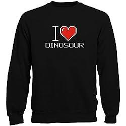 Idakoos I love Dinosour pixelated - Dinosaurios - Sudadera