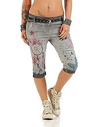 Zarmexx 12299 Mesdames Pantalons Capri Pantalons Baggy Boyfriend Jeggings  Fantastique Impression Capri Chinos 85c7485ce74