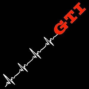 GTI Herzschlag 50 cm Aufkleber Sticker Auto Tunig Decal+