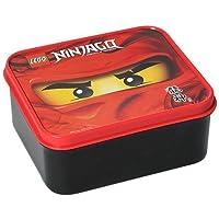 """Lego Lunch Box """"Ninjago"""" Masters of Spinjitzu - Kai Motiv - 160 x 140 x 65 mm - Ideal für Pausenbrote, Obst, Snacks - Brotdose / Vesperdose für Unterwegs oder Zuhause"""