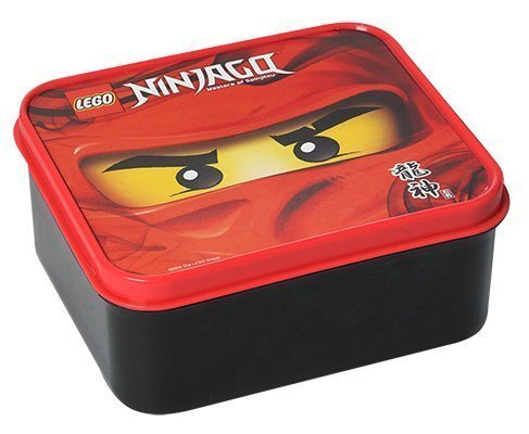 "Lego Lunch Box ""Ninjago"" Masters of Spinjitzu - Kai Motiv - 160 x 140 x 65 mm - Ideal für Pausenbrote, Obst, Snacks - Brotdose / Vesperdose für Unterwegs oder Zuhause (Lego Schulen)"