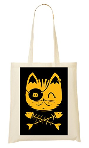 Cat The Pirate Cute Bolso De Mano Bolsa De La...