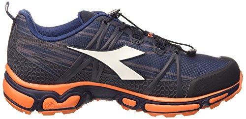 Diadora Trail Race, Scarpe da Corsa Unisex-Adulto Blu Prugna/Arancio Flame