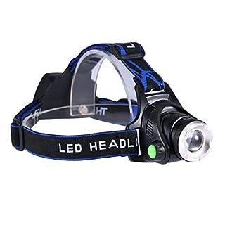 Lightess Kopflampe LED Stirnlampe USB Kopfleuchten Wiederaufladbar Wasserdicht Superhelle LED Stirnlampen Kopflampen für Angeln Laufen Joggen Jogging Campen Radfahren Outdoor Indoor