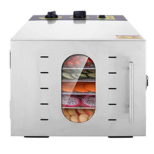 ZJH Dörrgerät-Frucht-Trockner großer 20L 6 Schichten Edelstahl-elektrischer Dörrgerät mit justierbarem Timer und Temperaturüberwachung -