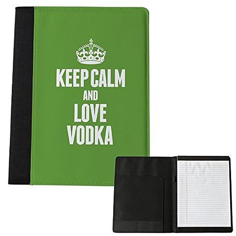 Grün Keep Calm and Love Wodka Notizblock Groß 1647 (Grün Wodka)