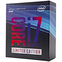 Intel Core i7-8086K CPU Processor BX80684I78086K Processeur 12M Cache, up to 5.00 Ghz Coffee Lake i7 8086K Limited Edition Édition Limitée sans radiateur/Ventilateur Without heatsink/Fan