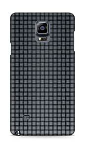 Amez designer printed 3d premium high quality back case cover for Samsung Galaxy Note 4 (Gray Mesh)