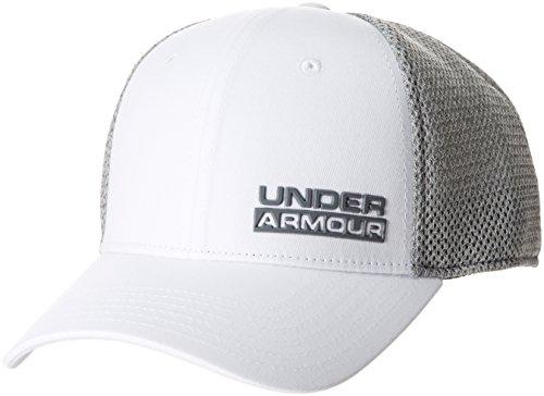Under Armour Herren Eagle Cap Upd Kappe, White/Aluminum/Zinc Gray (100), S/M