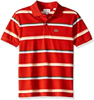 Lacoste Boy Summer Lover Striped Pique Polo