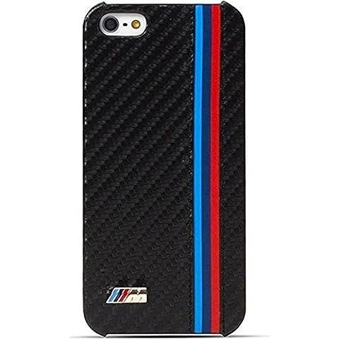 BMW Collection M Coque rigide en simili cuir pour iPhone 5 Motif Licence Officielle BMW Noir