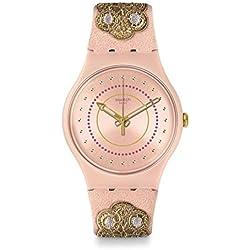 Swatch Reloj Analogico para Unisex de Cuarzo con Correa en Tela SUOP108