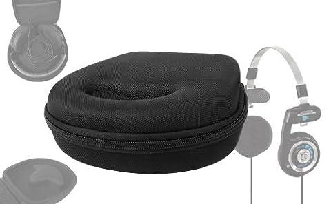 Etui housse rigide de rangement noir pour casque audio Jabra Move et Revo Casque Audio Supra Auriculaire et KOSS PortaPro, par DURAGADGET
