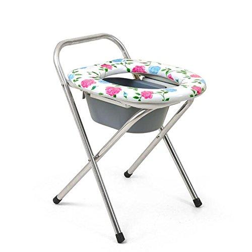 Main courantel& Toilette mobile pliante pliante avec pot pour les femmes enceintes Personnes handicapées