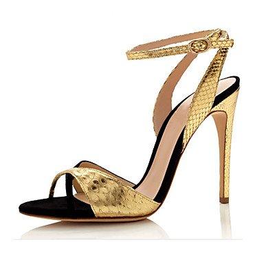 LvYuan Damen-Sandalen-Kleid Lässig Party & Festivität-Vlies-Stöckelabsatz-Andere-Gold Gold