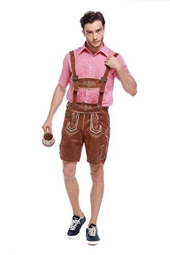 VENI MASEE Tranditional German Girl/Men's Bavarian Beer Oktoberfest Yodeler Maiden Tavern Waitress Wench Halloween Fancy Dress Costume