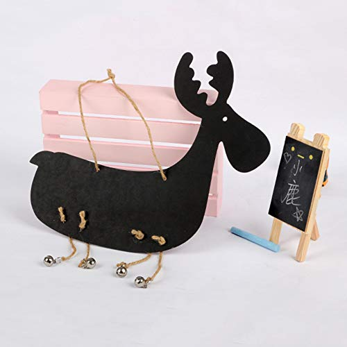Bell Plaque (Craft Dolphin - Deer Wooden Small Blackboard Christmas Message Board Wall Hangings Home Decoration Crafts C - Rooster Dolphin Crafting Craft Copper Plaques Signs Natsume Takashi Bell Wind P)