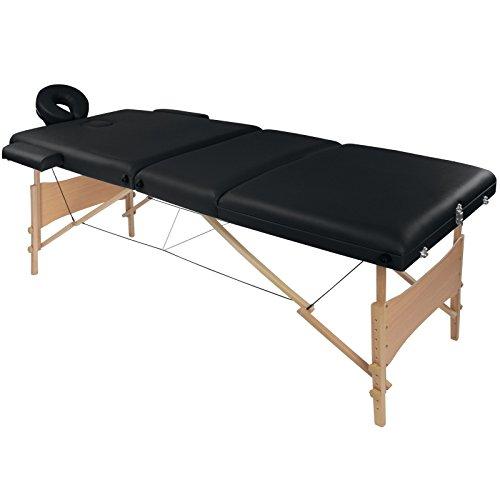 Tavolo lettino massaggio fisioterapia estetista vitaly a 3 zone portatile nuovo de bb sport, colore:nero