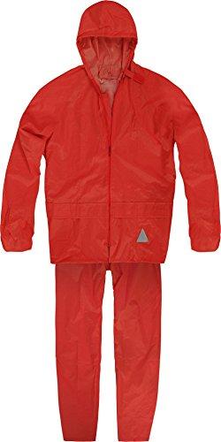 normani Unisex - Erwachsene Regenanzug (Jacke und Hose) - 100% wasserdicht Farbe Rot Größe XL
