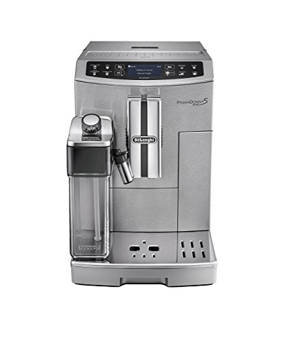 414IFVOS6rL - De'Longhi Primadonna S Evo, Fully Automatic Bean to Cup Coffee Machine, Espresso and Cappuccino Maker,Stainless Steel…