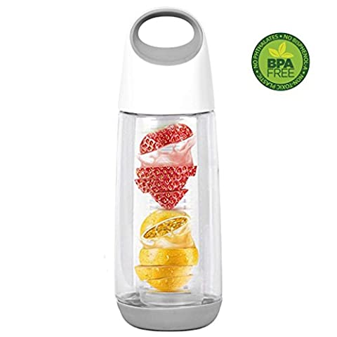650ML/22OZ Fruit Infuser Water Bottle Easy Carrying Handle Removable Parts L.&G.