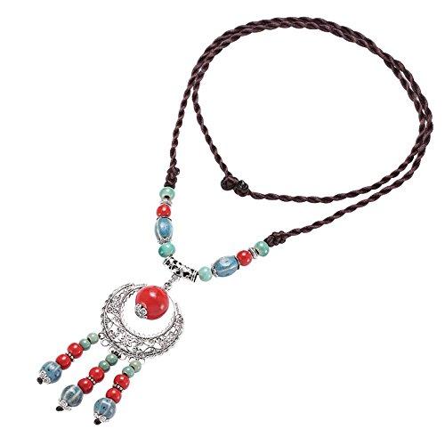 XIANGLIANAAA stile folk femmina retrò maglione lungo collana catena gioielli ornamenti collocation vestiti appesi catena 100 inverno 84cm,259 - p regalo di compleanno per la Festa della mamma regalo