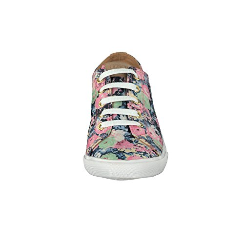GOSCH SHOES SYLT Damen Sneaker 7114-303 mit Blumenmuster in 2 Farben Blau