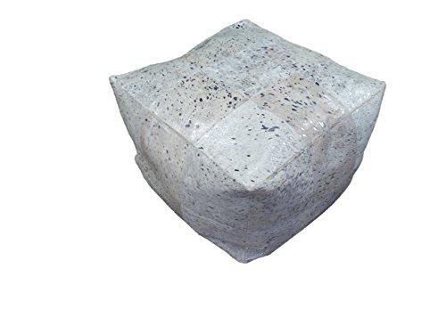 Suggaloaf KUHFELL Pouf BODENKISSEN Silber Metallic ca. 60 cm x 60 cm x 40 cm - einmaliges...