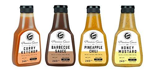 Got7 Premium Sauce No.1 Soße Grillsoße Perfekt Zur Diät Abnehmen Fitness Bodybuilding 240ml (Fruity Saucen Box)