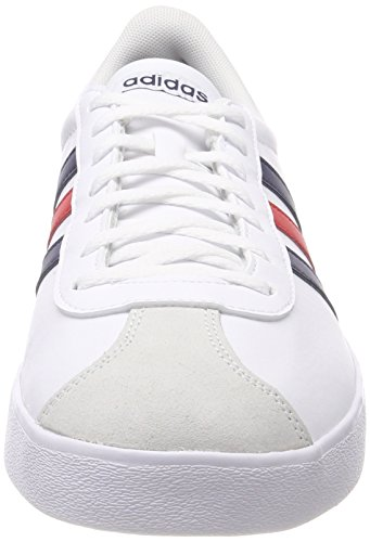 adidas VL Court 2.0, Chaussures de Gymnastique Homme Multicolore (Ftwr White/collegiate Navy/core Red S17)
