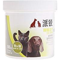 Aawsome 1 caja de toallitas húmedas para eliminar manchas de ojos de mascotas, toallitas suaves