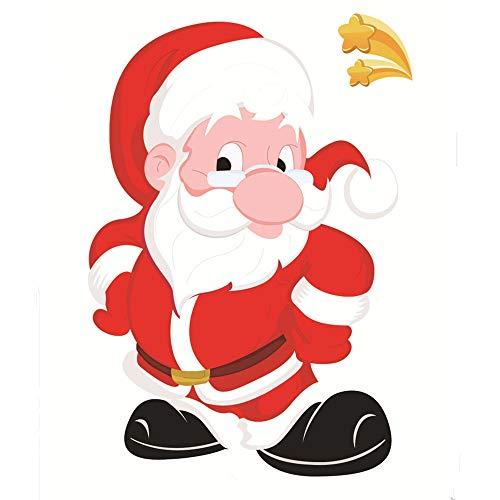 Mitlfuny Weihnachten Home TüR Dekoration 2019,Weihnachtsrestaurant-Mall-Dekorations-Schnee-Glasfenster-Entfernbare Aufkleber