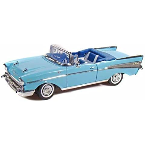 Collectable Diecast 1957 Chevy Bel Air Convertible - Blue by Chevrolet