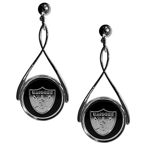Siskiyou NFL Damen-Ohrringe Tropfenform, Damen, FTDE125, Schwarz, 2