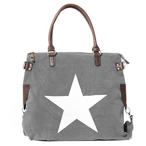 Bags4Less - F3151, Borsa a tracolla Donna Velours-Grau