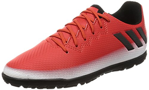 adidas Messi 16.3 Tf, Chaussures de Football Mixte Enfant Rouge (Red/core Black/ftwr White)