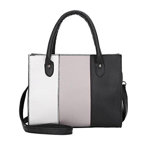 TUDUZ Schultertasche Damen Handtasche PU-Leder Beuteltasche Shopper Umhängetasche Tasche (Grau)