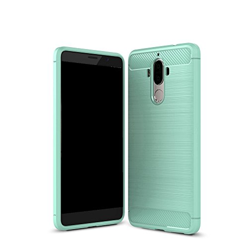 EKINHUI Case Cover Dünne und Leightweight gebürstete Carbon Fiber Robuste Rüstung Back Cover Stoßstange Fall Shockproof Drop Resistance Shell Cover für Huawei Mate 9 ( Color : Gray ) Green