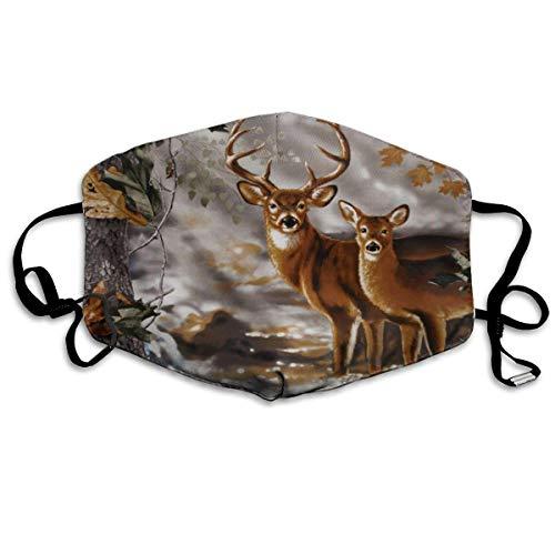 Vbnbvn Unisex Mundmaske,Wiederverwendbar Anti Staub Schutzhülle,Real Tree Camouflage Deer Cotton Mouth Masks,Anti-dust Face Mask for Women and Men