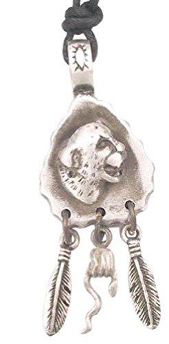 Llords Schmuck Gepard Pfeilspitze Anhänger Halskette von Amerikas Ureinwohnern Indianern inspiriert, feinster Zinn Metall (Cheetah Kostüme)