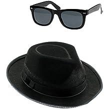 TrendyFashion Unisex Blues Band Cappello e occhiali Set Americano fascia  addio al celibato feste vestito b3366f9bc152
