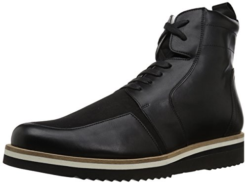 A|X Armani Exchange Men\'s Lace up Side Zip with Sole Detail Military and Tactical Boot