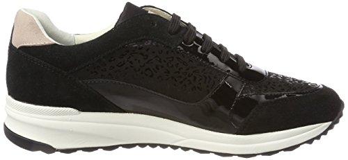 Geox Damen D Airell C Sneaker Schwarz (nero)