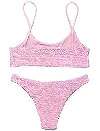 1916fcea948f3 Amazon.co.uk  OMKAGI - Bikinis   Swimwear  Clothing