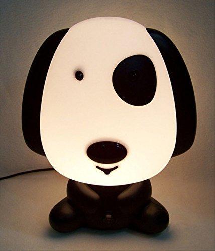 Rosa Schleife® Niedlichen Dog Cartoon LED Nachtlicht Wiederaufladbaren Energiesparlampen kleine Tischlampe Lampe Nachttischlampe Schreibtisch Lampen Licht Schlummerleuchten Licht Säuglingsernährung Baby-Schlafzimmer Schreibtisch Lampen Licht Schlummerleuchten für Kinder LED nachttischlampen für schlafzimmer