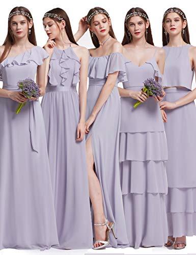 Ever Pretty Elegantes Neckholder Rüschen justierbares Brautjungfern Festkleid Kleid 48 Größe...