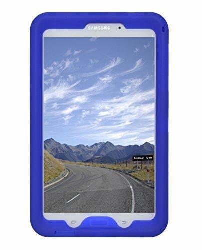 Bobj Silikon-Hulle Heavy Duty Tasche fur Samsung Galaxy Tab 4 8-inch Tablet, WiFi (SM-T330), 3G (SM-T331), 4G (modelle (SM-T335, SM-T337, SM-T337A), andere modelle SM-T33.., ( Nicht für Tab A 8) - BobjGear Schutzhulle (Blau) (3 Zoll 8 Fall Kinder Galaxy Tab)