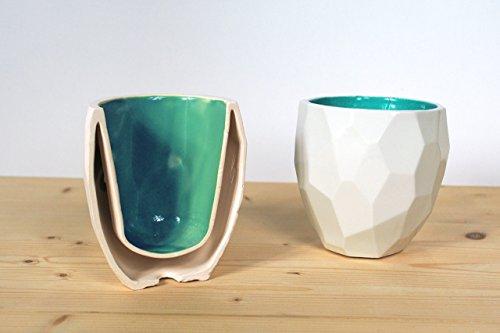 Poligon Thermo Tasse - thermisch ontwerp cappuccino tassen thermobecher keukengerei huis trinkbecher kaffee-becher kaffee-mühle aardewerk thermoskanne abendessen diner